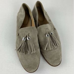 Franco Sarto Womens 8.5 M Hadden Gray Suede Loafer